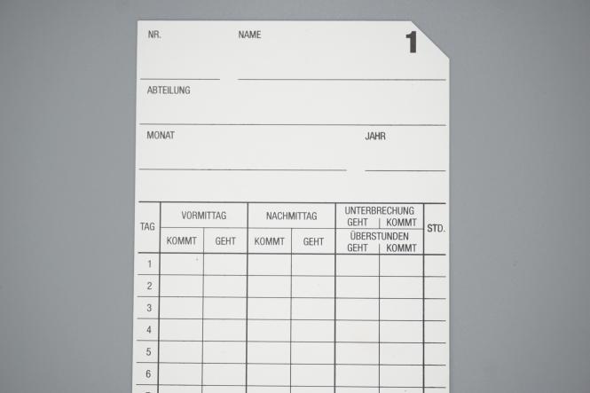 Stempelkarte Seiko QR-350 / QR-550