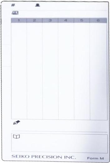 Stempelkarte Z120 / Typ M